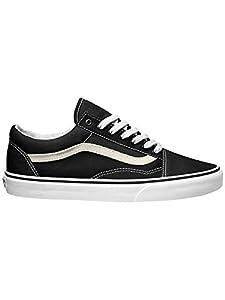 Vans Men's Old Skool Skate Shoe (7 D(M) US, Black/True White)