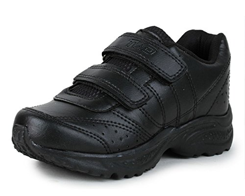 TRASE TWD Kids Black School Shoes for
