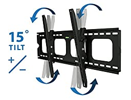 Mount-It! Tilting TV Wall Mount Bracket For Samsung Sony Vizio LG Panasonic TCL  VESA 200x200 400x400 600x400 850x450 Compatible Premium Tilt 220 Lbs Capacity, Size 42-80 inch