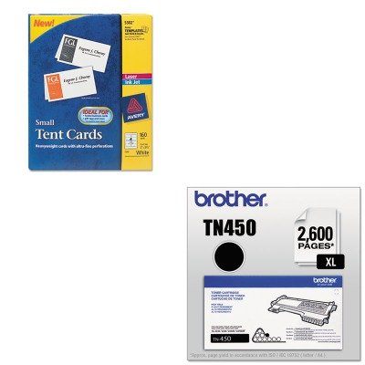 KITAVE5302BRTTN450 - Value Kit - Avery Small Tent Card (AVE5302) and Brother TN450 TN-450 High-Yield Toner (BRTTN450)