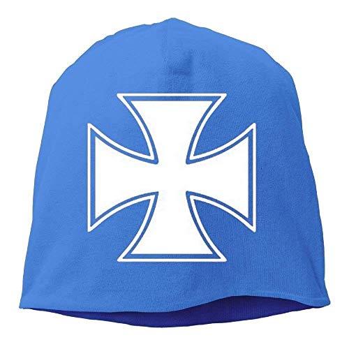Personality Caps Hats Unisex Iron Cross - Skater Biker Outlaw Motorcycle Lovely Unisex Stretch Beanie Skull Cap Knit Hat Men Women Black Winter Hat