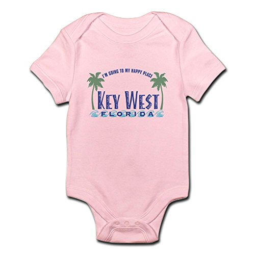 CafePress Key West Happy Place - Infant Bodysuit - Cute Infant Bodysuit Baby - Key West Boutiques