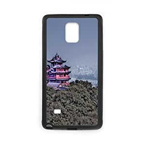 Samsung Galaxy Note 4 Case Girls Protective Concept Shaolin Temple, Temple Phone Case for Samsung Galaxy Note 4 [Black]