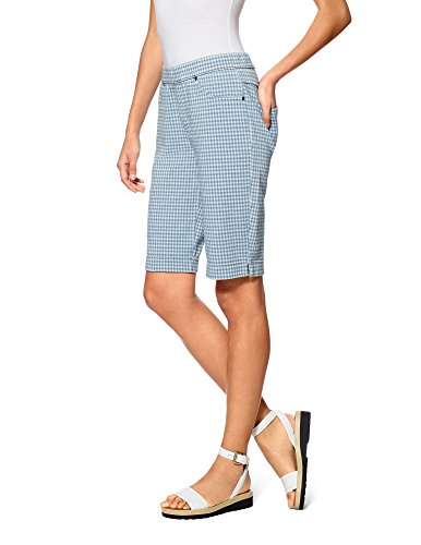 Hue Women's Gingham Denim Boyfriend Shorts (X-Large, - Short Gingham Denim
