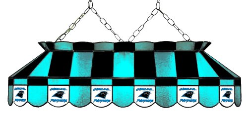 Imperial Officially Licensed NFL Merchandise: Tiffany-Style Stained Glass Billiard/Pool Table Light, Carolina -