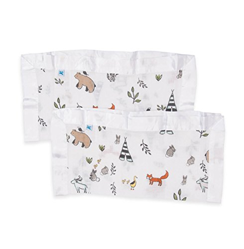 Little Unicorn Cotton Muslin Security Blanket - Forest Friends - 2 Pk