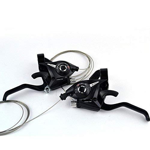 Gubbarey: 21 (3x7) Speed Shifter/Bike Cycle Brake Lever Combo V-Brake Front  3 Gear Fire Trigger 2 pcs