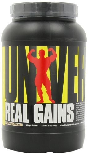 Real Gains Weight Gainer with Complex Carbs and Whey-Micellar Casein Protein Matrix Cookies & Cream 3.8#