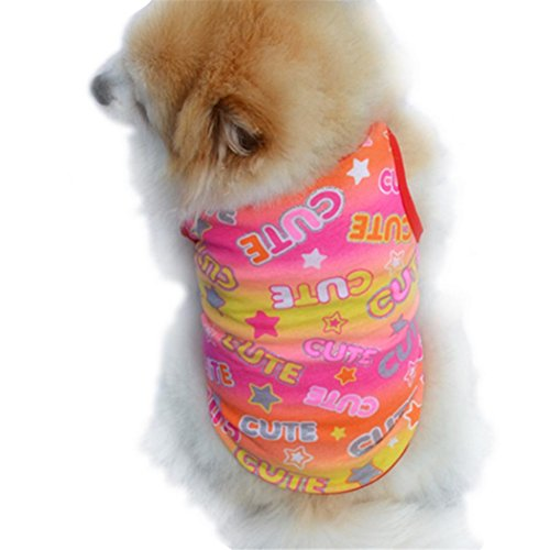 Outtop Pet Clothes, Small Dogs Warm Coat Shirt Apparel Costume Accessory for Dog Dachshund, Poodle, Pug, Chihuahua, Shih Tzu, Yorkshire Terriers, Papillon (L, Red)