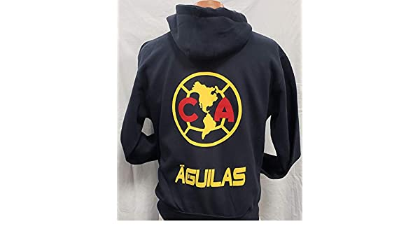 Amazon.com : New Club Deportivo Aguilas del America Sudadera De Gorro Zip up Hoodie Size 2XL : Sports & Outdoors