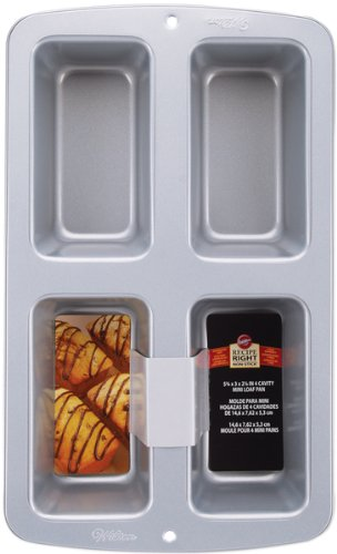 4 Cavity Mini Loaf Pan - 3 inch x 6 inch x 2 Home Kitchen Furniture Decor