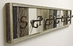 Personalized Wooden Coat Rack with Metal...
