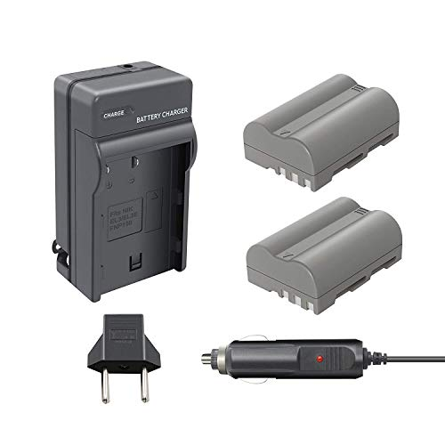 D80 En El3e Battery Charger - Bonacell EN-EL3E 2000mAh Replacement Battery and Charger Kit Comaptible with Nikon D700, D300, D300S, D200, D100, D90, D80, D70, D70s, D50 Digital SLR Camera 2 Pack