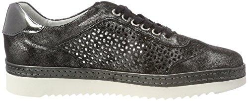 Sioux Damen Oxiria-702-Xl Sneaker Schwarz (Schwarz/Slate)