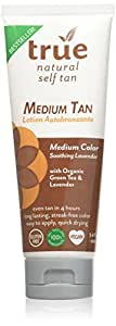 True Natural Organic Self Tanner, Light-Medium Tan 3.4 fl.oz.