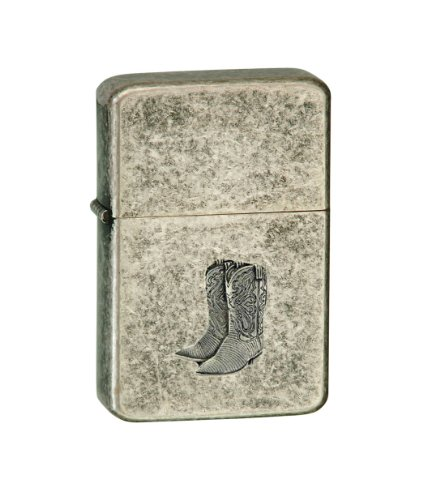 Vector-KGM-Thunderbird-Emblem-Vintage-Copper-Lighter-Cowboy-Pewter-Boots