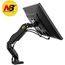 North Bayou Monitor Desk Mount Stand Full Motion Swivel Monitor Arm for 17''-27'' Monitor frоm 4.4lbs up tо 14.3lbs F80