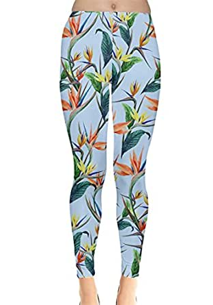 CowCow Womens Birdy Floral Leggings, Floral - XS