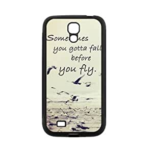 Be Free Birds Quote Protective Rubber Back Fits Cover Case for SamSung Galaxy S4 wangjiang maoyi