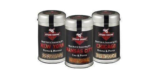 Steak Champ 3er Set Gewürzmischung New York + Kansas City + Chicago