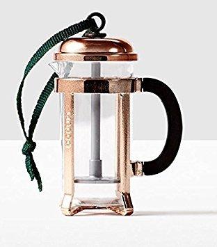 Starbucks 2016 Copper Coffee Press Ornament