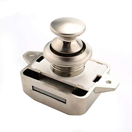 MACHSWON door lock with push button lock lock lock button for closet drawer caravan camper Push button catch lock cabinet door brown