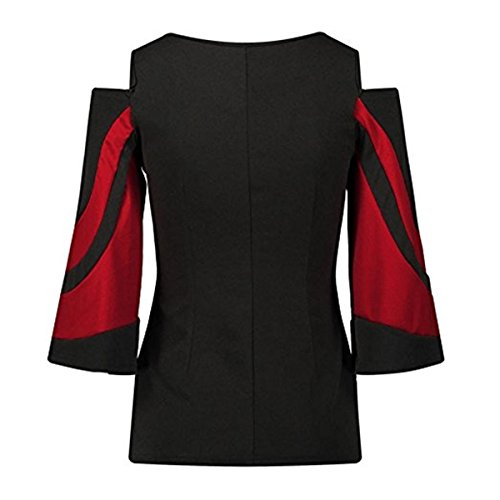 Fashion Grande Shirt Femme Chemisier Rouge Casual t Chic Mode Blouse Fille Taille Vetement Chemise Femme Soiree Manteau Ruiying aqXBy
