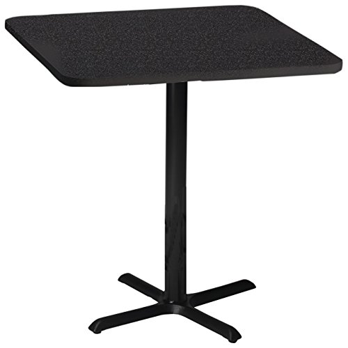 Mayline Bistro Series Square Bar Height Table with Black Base, Mayline Bistro Tables