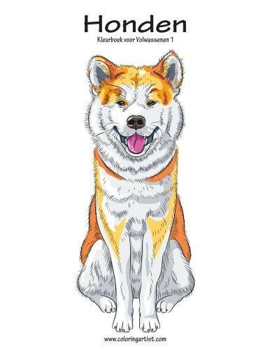Honden Kleurboek voor Volwassenen 1 (Volume 1) (Dutch Edition)