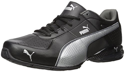 Mid Cross Training Shoe (PUMA Men's Cell Surin 2.0 FM Sneaker, Black Silver, 10.5 M US)