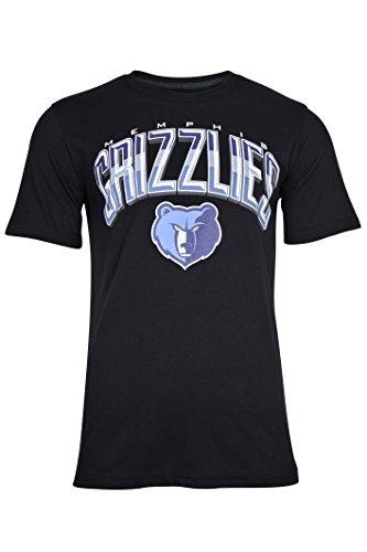NBA Men's Memphis Grizzlies Arched Plexi Team Logo Short Sleeve T-Shirt, Large, Black