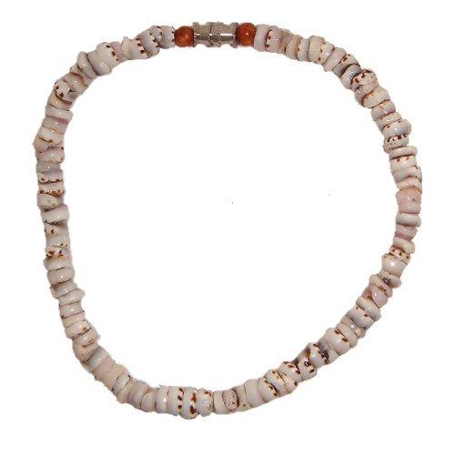 Zero Gravity Hawaii Hawaiian Tiger Puka Shell Anklet with Hawaiian Koa Wood Beads