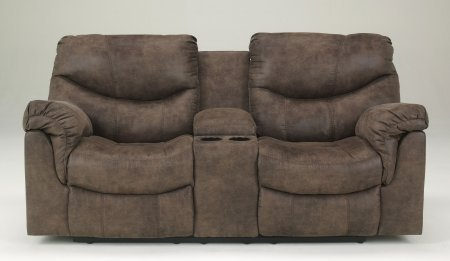 Alzena Double Reclining Loveseat with Console Power