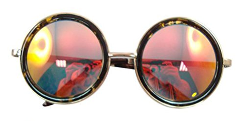 50 Rouge dans avec Miroir Miroir Havane Lenti la la Steampunk Avec Réel Style UV400 Havane s Lunettes Revêtement Rondes Ultra de Red Lunettes Disponible Revêtement Couleur Protection Soleil Avec le de x4PpzqwH0n
