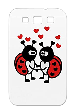 Amazon.com: Ladybugs In Love Shock-absorbent Red For Sumsang ...