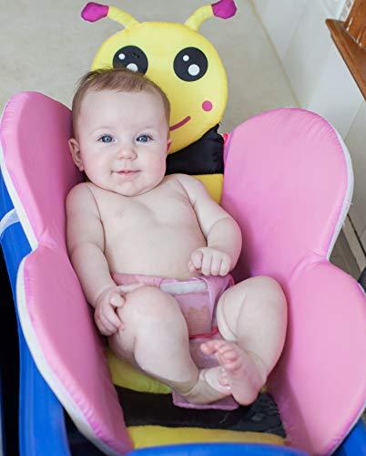 Cozy Mouse Baby Bath Tub Insert Infant Sink Bath Newborn Bath Sponge Baby Bath Pillow (Pink)
