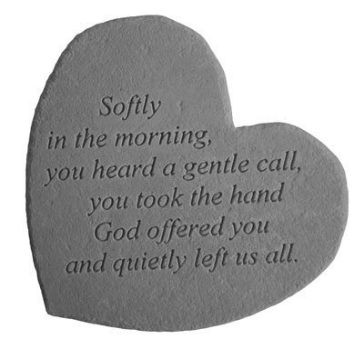 Softly In The Morning Heart Shaped Memorial Stone Review