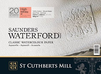 High White Saunders Waterford Block 300gsm 228 x 304mm (9