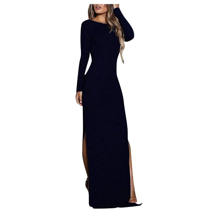 beautyjourney Elegante Vestido de Noche para Mujer Vestido ...