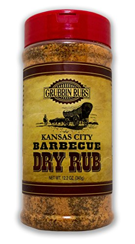 Kansas City Barbecue Dry Rub By Grubbin Rubs for Beef, Pork or Poultry, All Natural, No Preservatives, No MSG, Gluten Free (Kansas City)