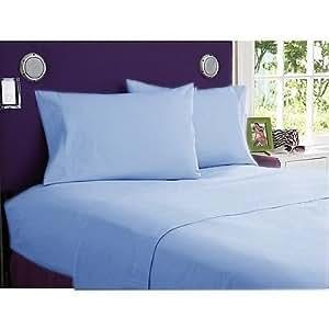 4piezas Juego de sábanas–-- 400hilos Color azul sólido UK Super-King 100% algodón egipcio Extra profundo bolsillo (30Inche)–as1