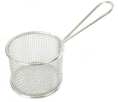 Mini S/S French Fry Table Serving Basket (Round)