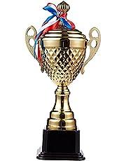 Juvale winningskostuum - grote trofee met 38,6 cm hoogte - voor wedstrijden, sporttoernooien, schoolwedstrijden, verjaardagsspelen - perfect voor kinderen, tieners en volwassenen