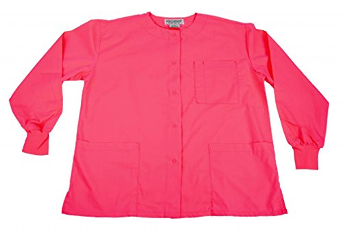 Hot Pink Jacket (Natural Uniforms Women's Warm Up Jacket (Hot Pink) (XX-Large) (Plus Sizes Available))