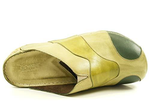 Verde Zuecos Material Gemini 717 32184 De Cuero 01 Mujer O8pwvpqz