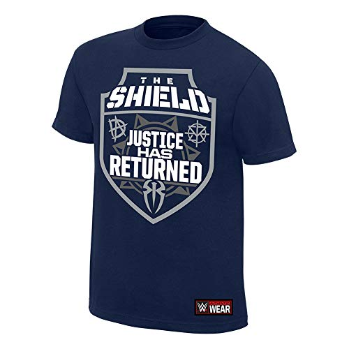 WWE The Shield Justice Has Returned T-Shirt Navy Blue XL by WWE Authentic Wear