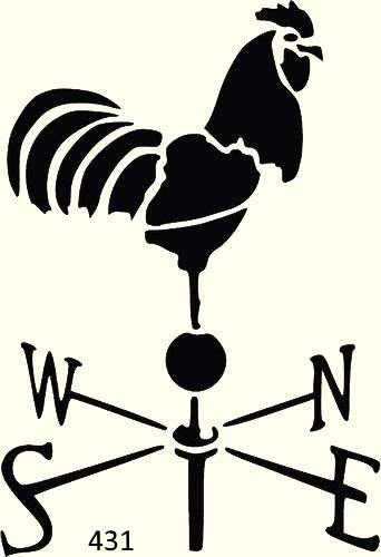 Rooster Weathervane Stencil Mylar Roosters Rustic Chic Stencils