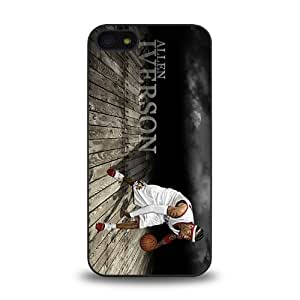 NBA Great Player Allen Iverson nicknamed A.I. The Answer Cool Design 8 Matt Feel Hard Plastic iPhone 5 Case Protective Skin Cover
