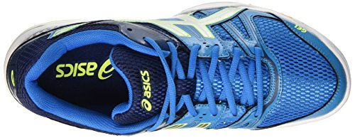 ASICS Volleyball Shoes Men's Gel-Rocket 7 - Neon Green/White/Black, 11.5