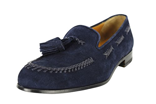 bally-womens-shoes-flats-size-7-us-37-eu-blue-leather